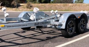 custom-designed, drive on, drive off, galvanised and alloy boat trailers with bar catch