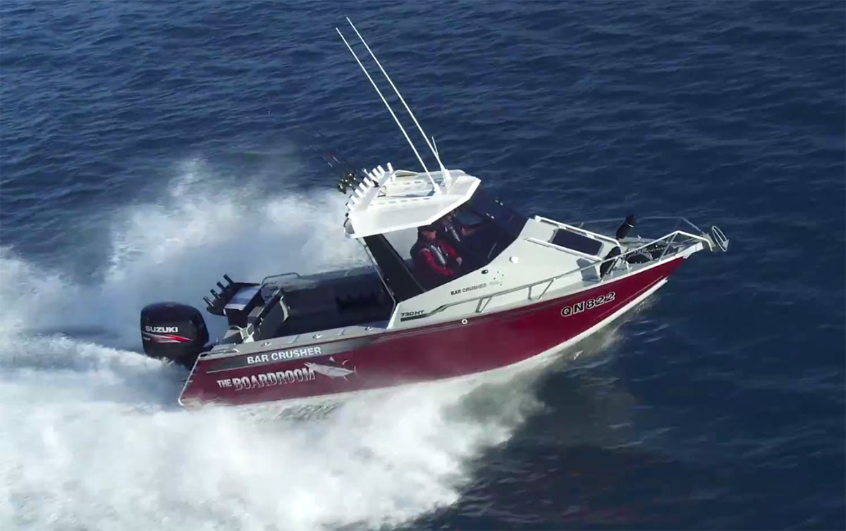 How To Test A Ballast >> VIDEO: Bar Crusher 730HT at AGB 2015 - Bar Crusher Boats