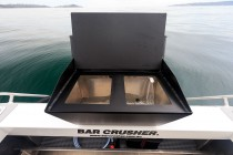 Innovative removable baitboard / livebait tank available on 490C.