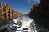 Navigating the King George River, in remote north Western Australia.