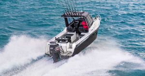 Bar Crusher 730HT Aluminium Boat Going Fishing