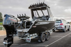 Hardtop Aluminium Fishing Boat On Trailer