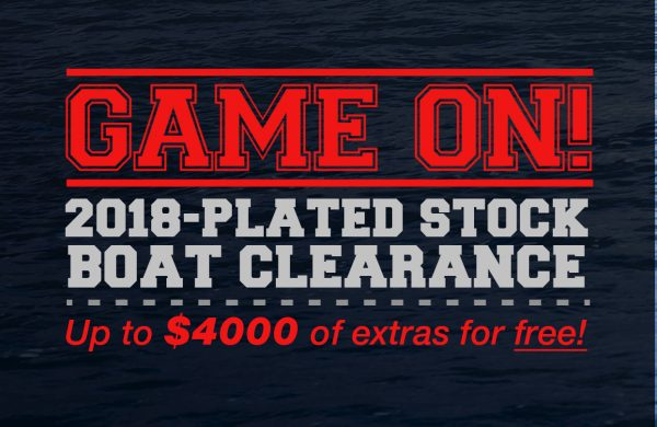 2018-plated stock boat clearance!